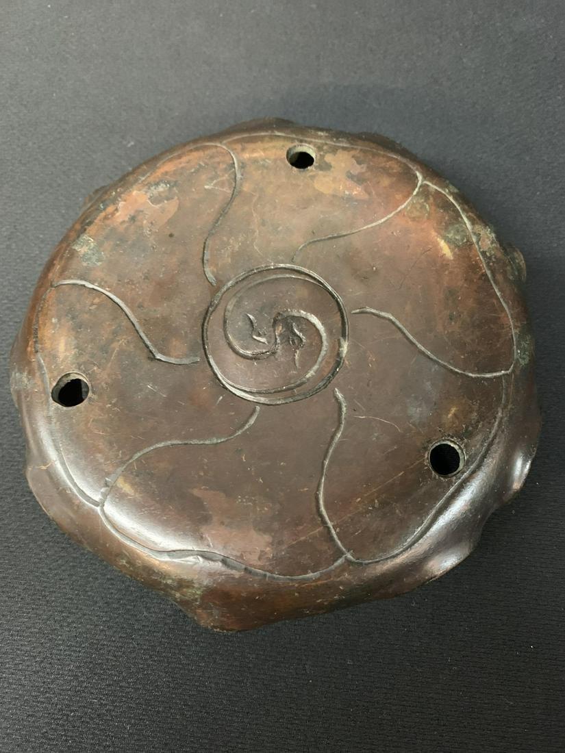 Antique Chinese Bronze Censer Stand
