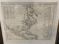 Lamerique Septentrionale 1706 Map North America