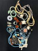 Large Lot Of Chinese Jade, Amber, Jewelry etc.
