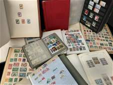 Large Lot Of Vintage Stamps Books