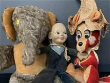 3 Vintage Stuffed Animals, Toys, England, Japan