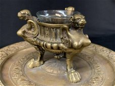 Antique French Bronze Leopold Oudry Compote