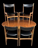 Mid Century Modern Teak Dining Table And 6 Chairs