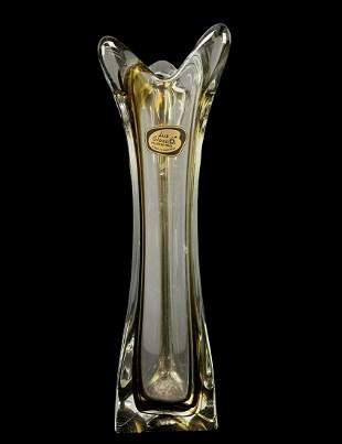 Tall Mcm Lux Faconne Glass Austria Vase