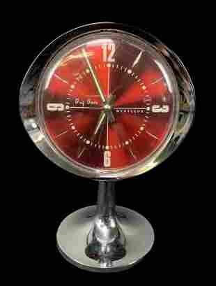 Vtg Mid Century Westclox Big Ben Alarm Clock, Red