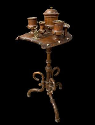 19th C Bentwood Arts And Crafts Smoking Stand