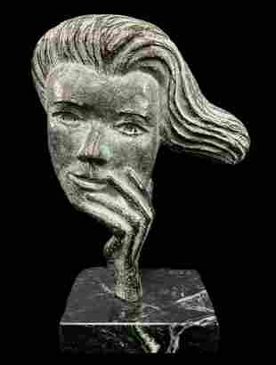 Harold Pfeiffer Canadian, Bronze Statue, Woman