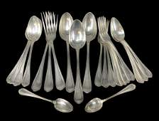 22 Pcs Christofle France Silver Plated Cutlery