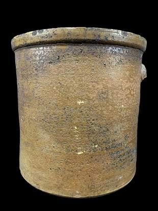 Stoneware Salt Glazed 5 Gallon Crock, Creche