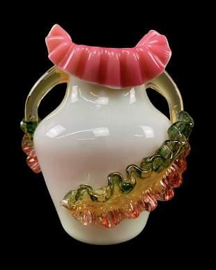 19th C Steven Williams Art Glass Vase, C. 1880