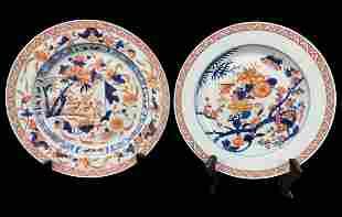 Two Antique Chinese Imari Plates