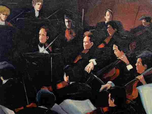 Martha Markowsky, In The Orchestra Pit, Oil Canvas