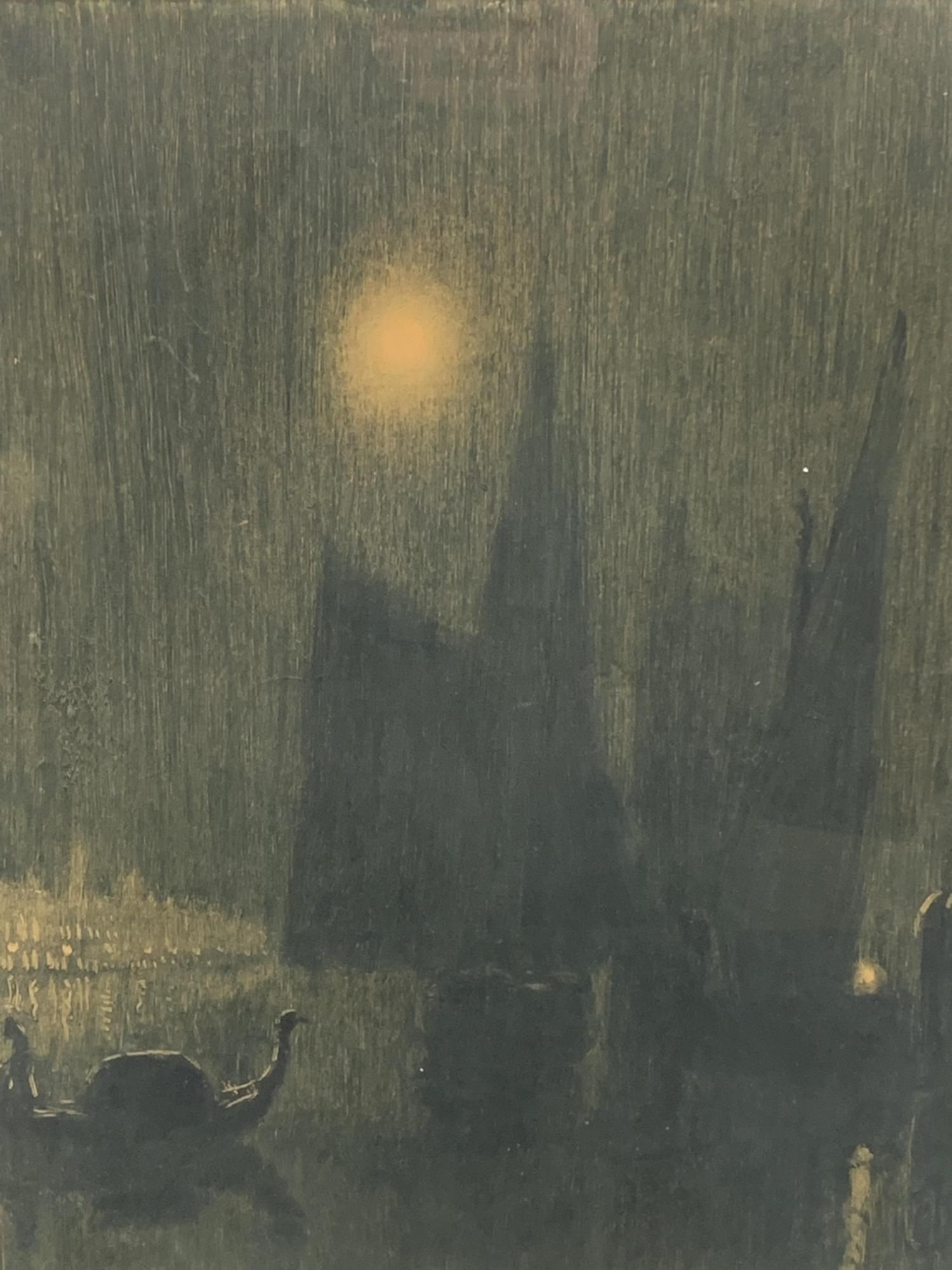 Joseph Henry Sharp, Monotype, Moonlit Ocean