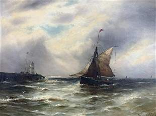 Gustave De Breanski, Oil On Canvas, Marine Scene