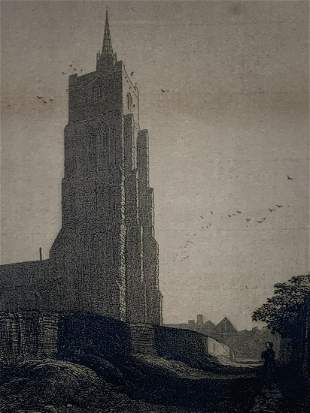 Frederick L. Griggs, Etching, Ashwell 1914, Signed