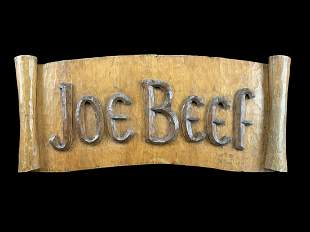 Folk Art Montreal Historic Joe Beef Sign