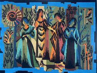 French Mid Century Modern Four Season Tapestry
