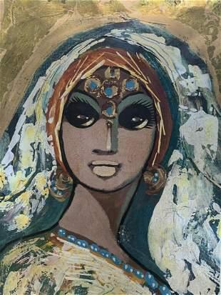 Ismail Samy (egyptian) Girl Painting