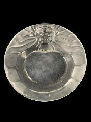 Lalique Tete De Lion Ashtray