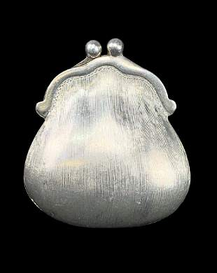 Gucci Sterling Silver Miniature Purse Pillbox