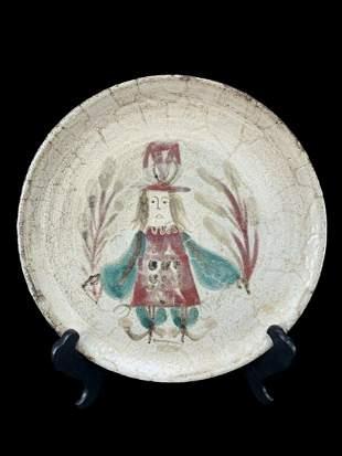 Gustave Reynaud Mcm French Ceramic Plate
