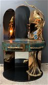 Unique Isabelle And Richard Faure Peacock Vanity