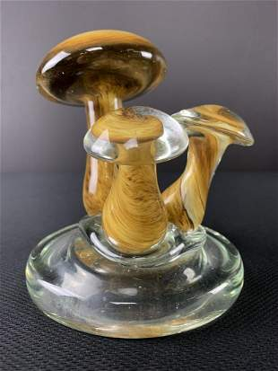 Murano Art Glass Mushrooms Paperweight