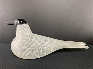 Signed Oiva Toikka Art Glass Bird Nuutajarvi
