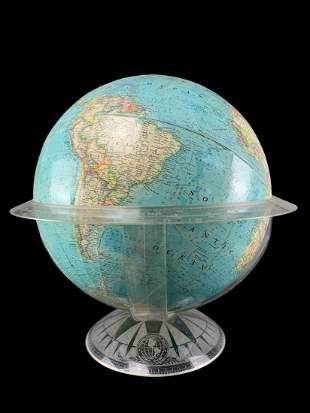 Vintage Mid Century National Geographic Globe 1971
