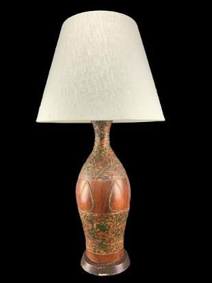 Mid Century Vintage Art Pottery Ceramic Lamp