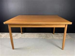 Mcm Danish Teak Dining Room Table
