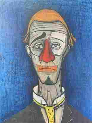Vintage Bernard Buffet 55 Tete De Clown Print