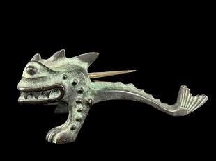 1960s Dunhill Bronze Dragon Lighter, Erhard Sohne