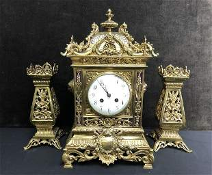 Antique French F. Martin D C Co Mantel Clock