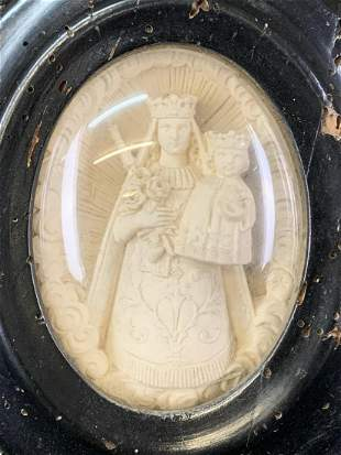 Victorian Miniature Carved Plaster Relief Plaque