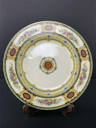 Antique Minton Hand Painted Plate, Yellow Floral