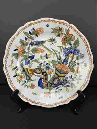 French Faience Plate, Cornucopia