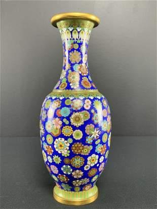Fine Chinese Cloisonne Gilt Vase