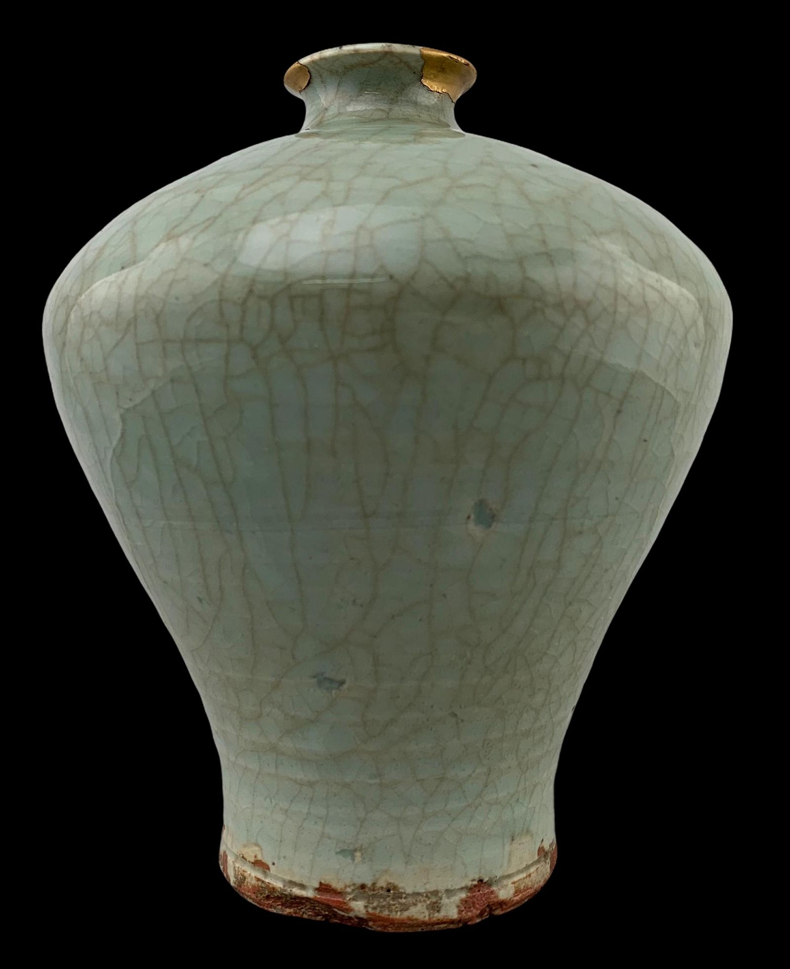 Song Celadon Longquan Glaze Chinese Meiping Vase