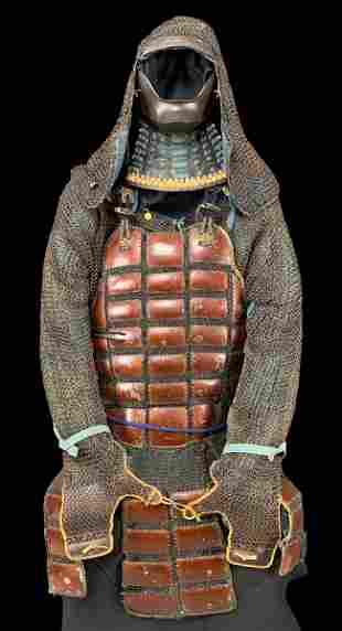 Edo Period Samurai Armor With Heavy Chainmail