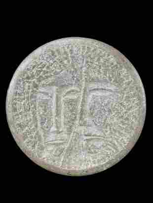 Roger Cavalli Modernist Stone Disc Sculpture