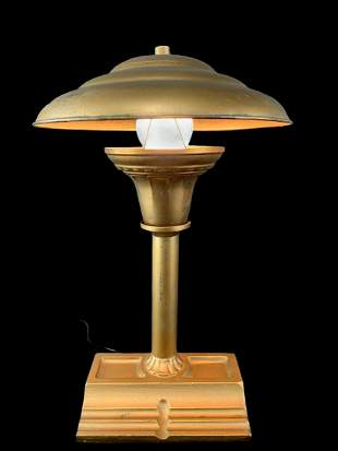 Antique Rex Electric Co. Ny Desk Lamp