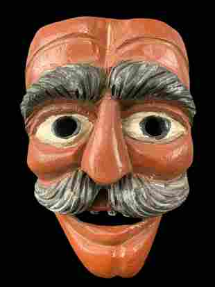 Antique Guatemalan Mexican Double Side Dance Mask