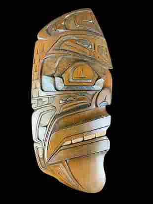 J. David Martin Wild Man Eagle Haida Carving