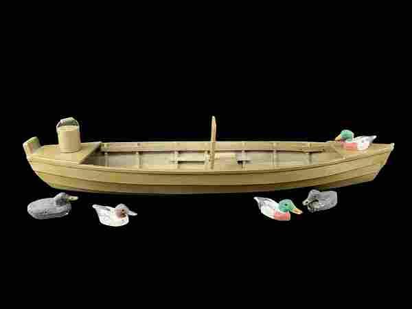Folk Art Boat Model Long Point Skiff Jack Reeves