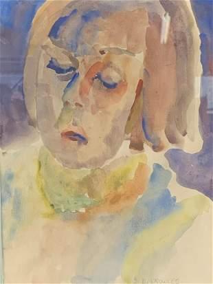 Dorothy Knowles Watercolor Portrait