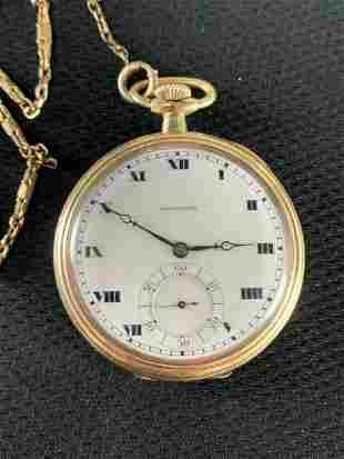 Hamilton Stem Wound Pocket Watch, Gold Filled Case