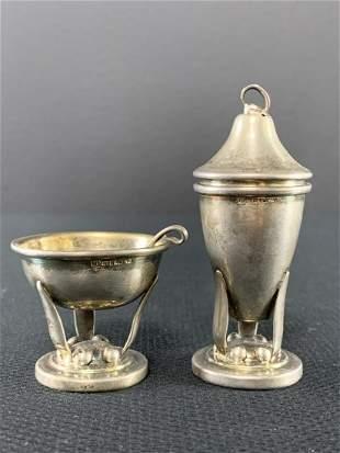 Carl Poul Petersen Sterling Silver Salt And Pepper