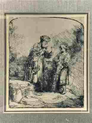 Rembrandt Print, Abraham And Isaac
