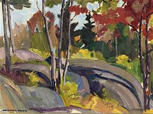 Geoffrey Grier Oil On Canvas Autumn Ste Marguerite